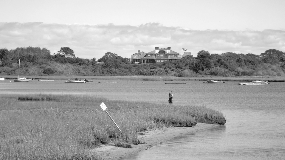 Clamming in Chatham Harbor, MA.